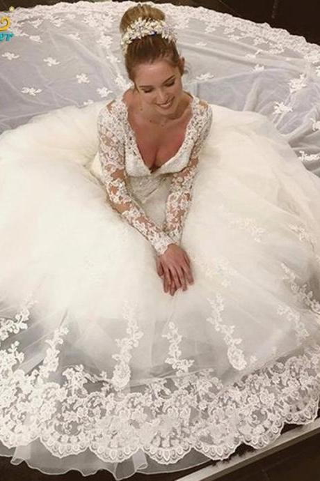 wedding dresses,lace wedding dresses, long sleeve wedding dresses,ball gown wedding dresses