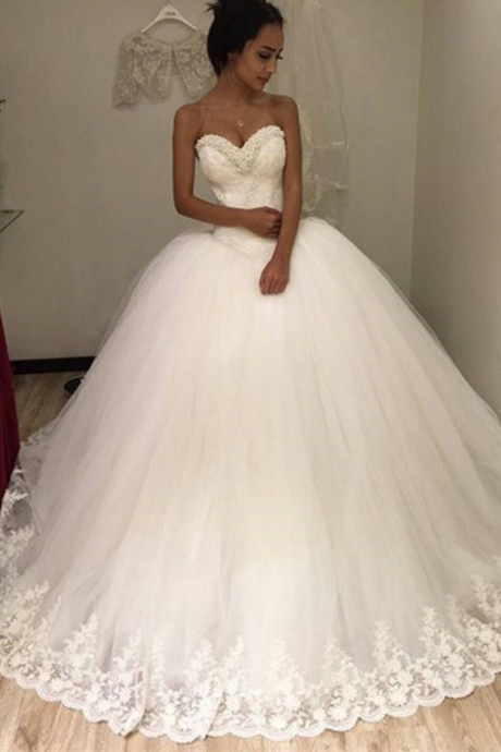 Princess Wedding Dress, Ball Gown Wedding Dresses, Elegant Wedding Dress, Cheap Wedding Dress, Custom Wedding Dress, Wedding Dresses , Vestido De Novia, Bridal Ball Gown, Romantic Wedding Dress