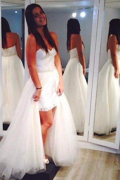 Wedding Dresses,Charming Wedding Dress,White Tulle Wedding Dresses,Sexy Bridal Dress