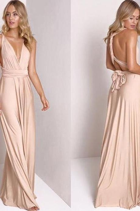 2018 Chiffon Prom Dresses , Long Chiffon Maxi Dress