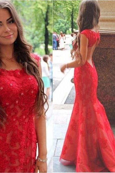 Mermaid Prom Dress,Sexy Backless Prom Dress,Long red Prom Dresses,Evening Formal Gowns, Sexy Backless Prom Dress , prom Gowns Plus Size, Cocktail Dresses, formal dresses,Wedding guests dresses